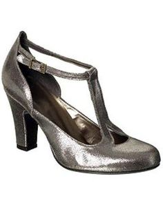 silver t-straps | Topshop's silver crackled-leather T-bar shoes