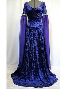 Blue Velvet Renaissance Medieval Gothic Dress