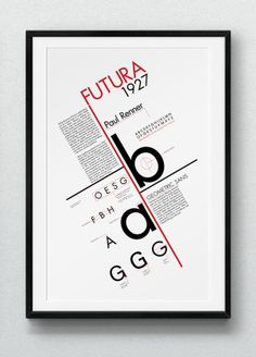 #typeposter Futura Type Poster | The way that this poster is broken down into is very nice. The layout inspires me.