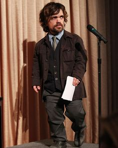Tyrion swagger..    The Best and Worst Dressed Men of the Week: May 4, 2012: Week In Style: GQ