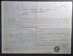 Revolutionary War Army Conge de Reforme. Signed by General Antoine Joseph Marie de Valette (1748-1823) and General Louis Beaumont (1771-1813). Conge de Reforme dated Grenoble , le 13 Fructidor An 9 (
