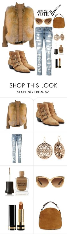 """Rock the Vote"" by im-karla-with-a-k ❤ liked on Polyvore featuring Gucci, Chloé, rag & bone/JEAN, Red Camel, Deborah Lippmann, Coach and UGG"