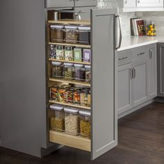Hardware Resources Inch Wide by 54 Inch Tall Cabinet Pull Out S Wood Tall Cabinet Organizers Pull Out Pantry Organizers Pull Out Wood Pantry Cabinet, Kitchen Cabinet Organization, Storage Cabinets, Kitchen Storage, Organization Ideas, Kitchen Organizers, Wood Storage, Cabinet Ideas, Attic Storage
