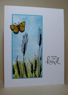 Silhouette Grass, Antique Flowers & Butterflies Peeled paint , Tumbled glass , Broken china