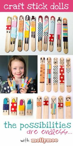 Lollipop Stick Puppets