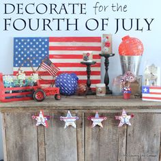 Decorate in Red, White, and Blue for the Fourth of July
