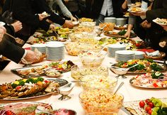Wedding Receptions Foods Displays | 10 Food and Gift Ideas for a Wedding Potluck | Quick Dish Recipes