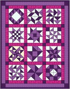 site with a few block tutorials-Simple but nice sashing and border.