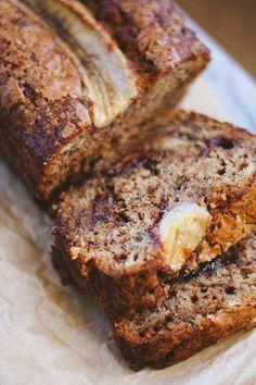 The Cake Hunter: Double Chocolate Nutella Swirl Banana Bread