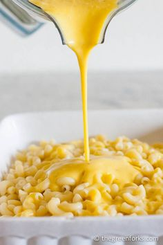 Vegan Macaroni and Cheese- ALL NATURAL- made without soy, nutritional yeast, cashews, and margarine!