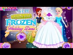 desing your frozen anna wedding dress