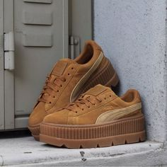 07ee12068f53 Puma Fenty Cleated Creeper Golden Brown