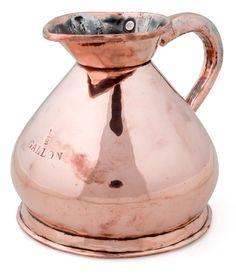 1/2 gallon copper pitcher