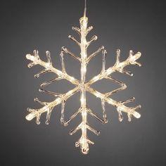 Snowflake Outdoor Christmas Light 40cm Warm White LED