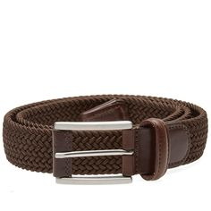 Anderson's Woven Textile Belt (Chocolate)