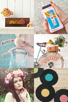 Typographical tees, felt cassette mobile cosies, crochet bike guards, fabric letter bunting (we should all send more snail mail), record plactemats, crochet hangers and more lots more tutorials and how-tos