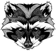 Resultado de imagen para raccoon tattoo