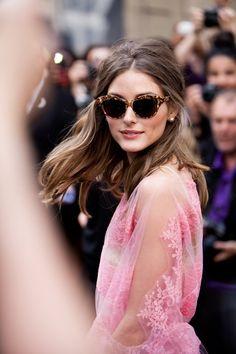 perfect hair, glasses, earrings