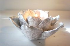 Heart & Spirit Flower Candle Holder by Amy Lauren Creations Decorative Bowls, Upcycle, Candle Holders, Spirit, Candles, Heart, Tableware, Pretty, Amy