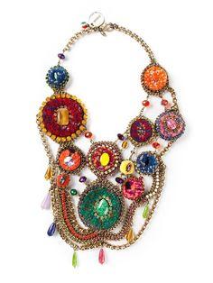 SVEVA COLLECTION 'Baku' crystal embellished necklace - £397 on Vein- getvein.com