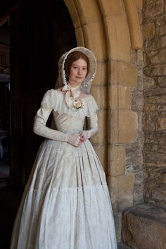 Jane Eyre (2011) #Movie with Mia Wasikowska as Jane #CostumeDesign by Michael O'Connor - #WeddingDress