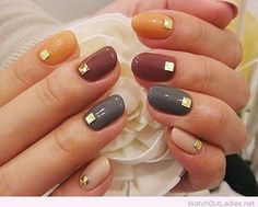 Fall nail design - http://watchoutladies.net/simple-classy-manicure/ http://miascollection.com
