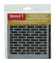 Stencil 1 Bricks Stencil 5.75''x6''