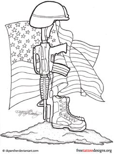 Military things to draw | Military memorial tattoo design
