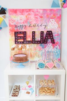 gem-themed first birthday party / darling and daisy / 100 layer cakelet