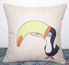Throw Pillow Cases, Throw Pillows, Animal Design, Cotton Linen, Amazon, Animals, Home Decor, Cotton Sheets, Toss Pillows
