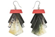 Allure Horn Earrings, Coral on OneKingsLane.com