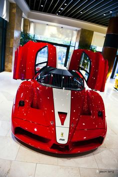 Cherry Red Ferrari Shows Off It's Wings! Stunning! #FerrariFriday http://www.ebay.com/motors/garage?roken2=ta.p3hwzkq71.bdream-cars - LGMSports.com