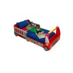 Making The Transition: Our Favourite Toddler Beds Truck Toddler Bed, Toddler Cot, Toddler Bed Mattress, Mattress Sets, Kids Bedroom Sets, Firefighter Gifts, Corner Shelves, Cheap Furniture, Fire Trucks