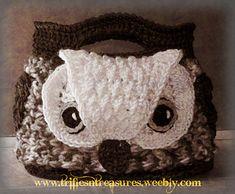 Owl crochet tote bag on ravelry   <3