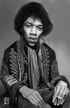 "Caricature of the ""Voodoo Child"" Jimi Hendrix by the talented Vincent Altamore. One of my favorites."