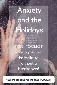 Anxiety and the Holidays.  Don't suffer with sweaty palms, stomach pain, anxiousness, and fatigue this year!  toolkit, depression, depressed, anxious, Christmas, frazzled, Thanksgiving, buy gifts, holiday, mental health, mental illness