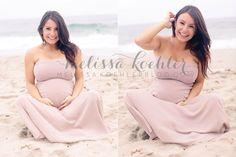 beach maternity photos | Melissa Koehler Photography | San Diego California Wedding and Portrait Photographer