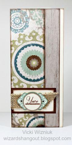 card by Vicki Wizniuk using CTMH Avonlea paper