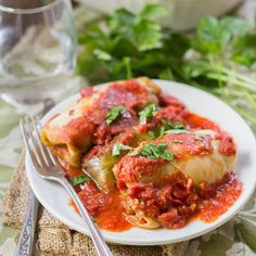 These stuffed vegan cabbage rolls are made with leaves of steamed cabbage wrapped around a smoky mixture of quinoa and lentils, baked in tomato sauce.