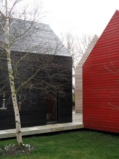 Sliding Hous bydRMM Architects. This unique two story contemporary home, with mobile walls and roof, is located in Suffolk, England, UK.