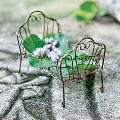 Fairy Garden Day Bed ~ available on Amazon via JoySavor  http://joysavor.com/product/fairy-garden-day-bed/