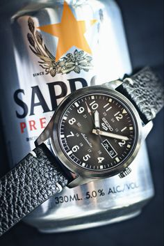 Seiko 5 Sports, Military Fashion, Omega Watch, Black Leather, Accessories, Style, Swag, Outfits, Jewelry Accessories