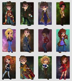Doctor Who - The Cute Collection by ~cute-loot I get the whole thing with 9-11 and copanions, what I don't get is random 4th Doctor just hanging out, you should make one for every Doctor!