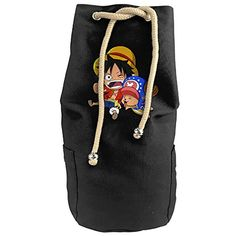 PPAP2 Customized Anime One Piece Luffy Canvas Beam Port Drawstring Sports Basketball Shoulders Backpack Bucket Bags * See this great product.