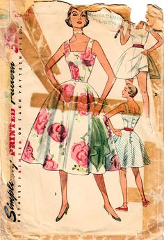 Excited to share the latest addition to my #etsy shop: 1950s Simplicity 4716 Vintage Sewing Pattern Misses Sundress, One Piece Party Dress, Tennis Dress, Panties Size 16 Bust 34 http://etsy.me/2nw49gR #supplies #sewing #missesdresspattern #sundresspattern