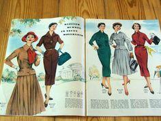 Modezeitschrift DER NEUE SCHNITT 8/1955 - 2 Schnittmuster-Bg 50er Jahre Mäntel   eBay