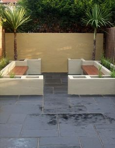 breeze block seats and planters - Google Search