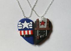 Captain America and Bucky Barnes Inspired by CharmingClayCreation