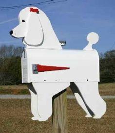 I would like a Black Poodle Mail Box.