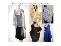 Women Use Shawls Mostly As Elegant Evening Shawls - YE located in CT USA offers the widest selection of seasonal evening shawls. www.yourselegantly.com